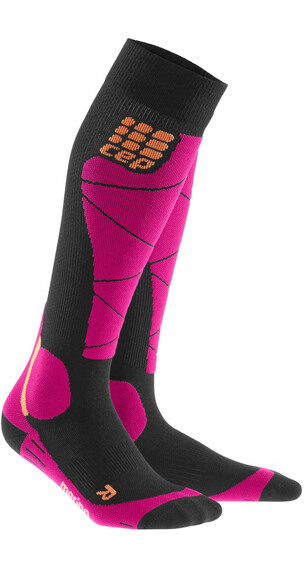 cep Ski Merino Sokken roze/zwart
